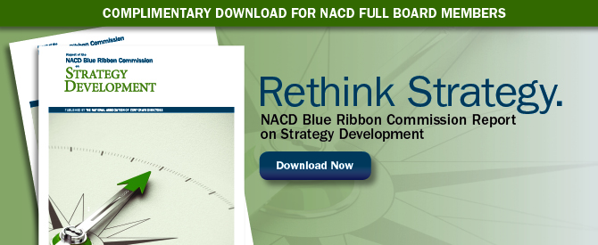 NACD Blue Ribbon Commission Report on Strategy Dev