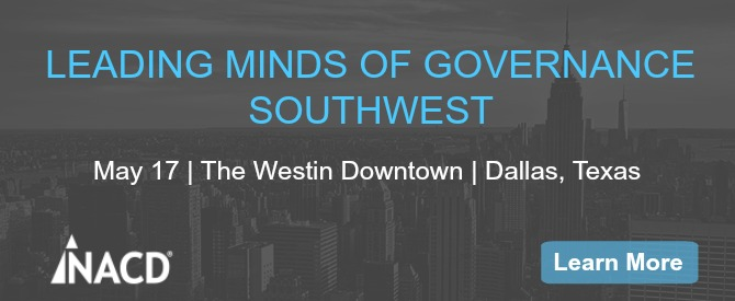Leading Minds of Governance–Southwest | Dallas, Texas